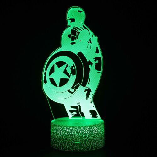 Anime Hero 3D Visual Night Light 7 Transform LED Desk Table Lamp Kids Xmas Gift