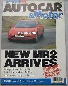 Autocar-magazine-18-4-1990-featuring-Toyota-MR2-Peugeot-Cosworth-GM-Impact