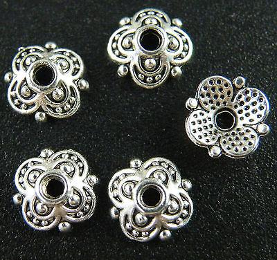 Tibetan Silver Nice Flower Bead Caps 170pc 8x8mm/130pc 10x10mm L175 L176