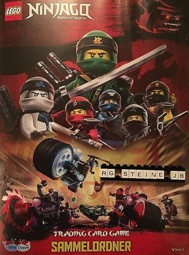 Lego Ninjago Serie 3 Trading Card Game Sammelordner alle 250 Sammelkarten NEU