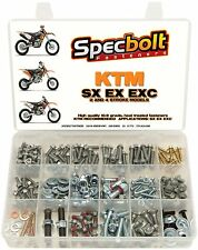 250pc Specbolt KTM Bolt Kit all SX EXC & XC 2 & 4 Stroke Models 50 65 85...525..