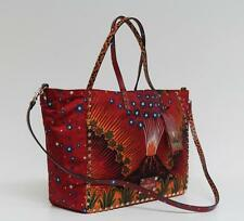 New $3450 Valentino Rockstud Reversible Cotton Painted Volcano Tote Bag
