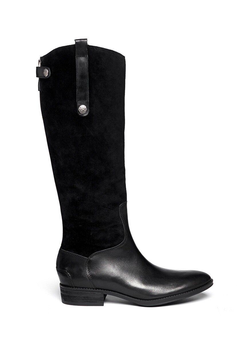 economico in alta qualità SAM EDELMAN New New New Pembrooke Tall Knee Leather Zip Military Riding nero stivali 5 M  negozio outlet