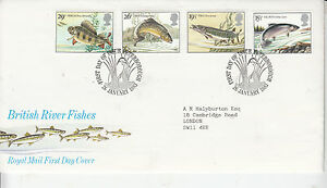 1983 GB  BRITISH RIVER FISHES  ROYAL MAIL FDC  PETERBOROUGH FDI 26 JAN 1983 - Halesworth, United Kingdom - 1983 GB  BRITISH RIVER FISHES  ROYAL MAIL FDC  PETERBOROUGH FDI 26 JAN 1983 - Halesworth, United Kingdom