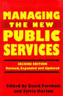 Managing the New Public Services by Palgrave Macmillan (Paperback, 1996)