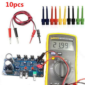 10Pcs-Mixed-Lead-Wire-Test-Hook-Clip-Grabbers-Test-Probe-SMT-SMD-for-Multimeter