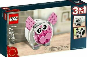 LEGO-Lego-Piggy-Bank-40251-Promo-3-in-1-New-in-box-sealed-and-unopened