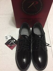 Rothco Men s Black Patent Lace Up Oxfords Military Dress Shoes Size ... 8c70f50e7