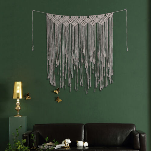 Bohemian Wall Tapestry Art Macrame Woven Hanging Backdrop Wedding Party Decor