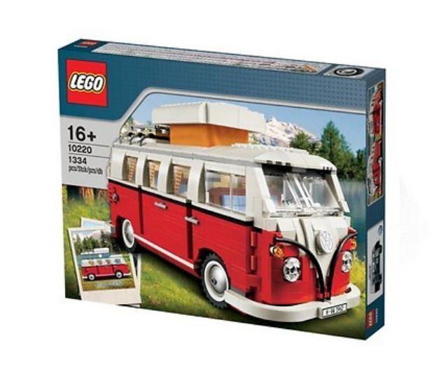 Lego T1 Bulli Campingbus Rot Weis von 1962 aus 1334 Teilen