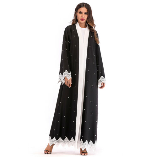 Dubai Women Muslim Kaftan Islamic Open Cardigan Abaya Arab Maxi Dress Kaftan New