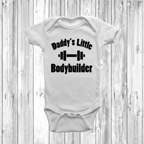 Daddy/'s Little Bodybuilder Baby Grow Vest Body Suit Gift Present Fathers Day