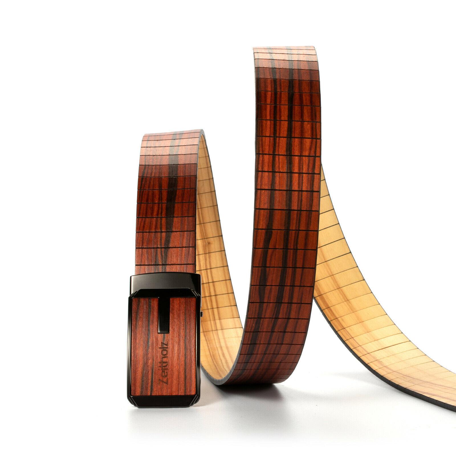 Holzgürtel Gürtel Unisex Olivenholz Braun handmade nickelfrei Neu