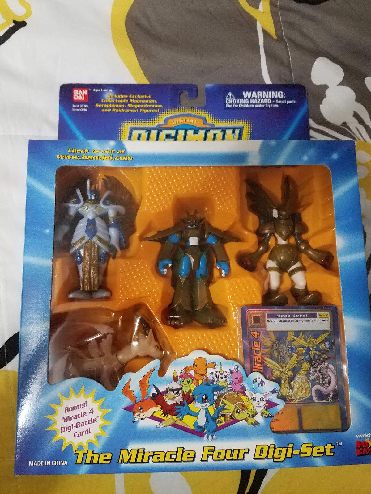 Digimon The Miracle cuatro Digi-set Nuevo Sellado