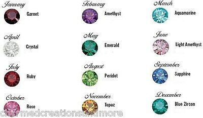 5mm 5 Bag Wholesale Lot x 12 Glass Birthstone Floating Charms For Memory Lockets