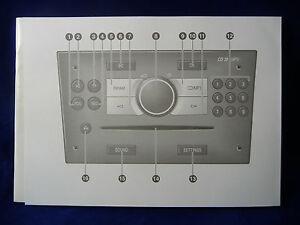 VAUXHALL Audio Sistema audio Stereo CD GUIDA MANUALE MANUALE Astra Corsa Vectra