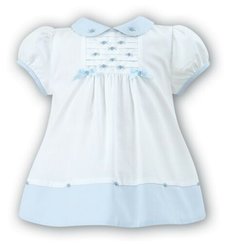 SARAH LOUISE Baby Girl Summer Dress in Blue//White and Pink//White BNWT
