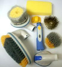 Multi Use Wash Brushes w/ Power Water Hose Nozzle and Bug Scrub Sponge Tool Kit