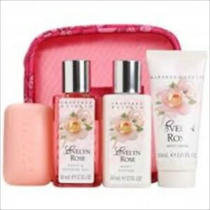 Image is loading Crabtree-Evelyn-EVELYN-ROSE-5pcs-Gift-Set-NEW-