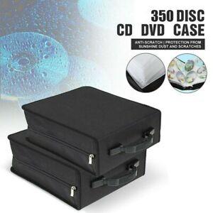 350Disc-Large-CD-Storage-Case-Bag-Album-Media-Video-DVD-PU-Leather-Organizer-US