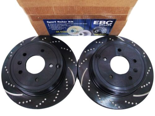 REAR EBC GD601 3GD DRILLED /& SLOTTED SPORT BRAKE ROTORS