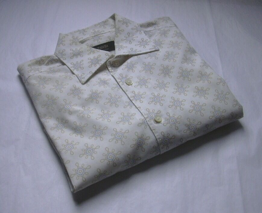 ZANELLA  MENS RETRO DRESS SHIRT SIZE  SZ L