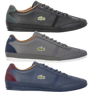 Das Bild wird geladen Lacoste-Herren-Schuhe-Misano-Leather-Sneaker-Freizeit -Leder- 070496327c