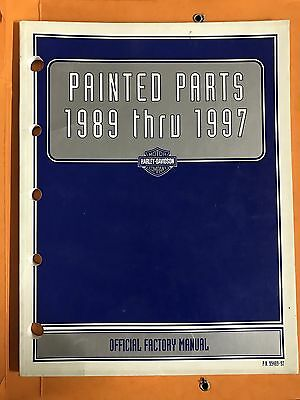 Harley Davidson Painted Parts 1989 - 1997 Official Factory Manual  P.N. 99489-97