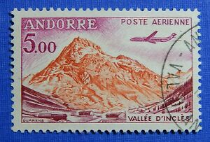 Impartial 1961 Andorra French 5fr Scott# C7 Michel # 177 Used Cs29122 Stamps