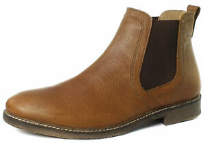 red tape ashton mens brown leather chelsea boot