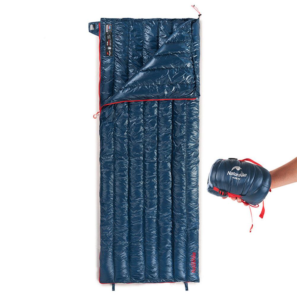 Rectangular  Camping Down Sleeping Bag Splicing Sleeping Bag with Compression Bag  counter genuine