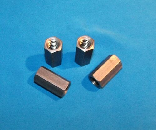 1//2-10 acme coupling nuts 4-pack steel 5//8 hex x 1.25 long right hand