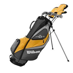 Wilson-Profile-XD-Men-039-s-RH-Flex-Graphite-Steel-Golf-Club-Stand-Bag-Set-Gold