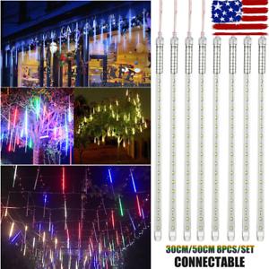 30-50CM-LED-Lights-Meteor-Shower-Rain-Tube-Snowfall-Tree-Christmas-Outdoor-Decor