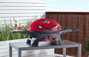 Ziggy by Ziegler & Brown Portable BBQ Triple Grill LPG - Chilli Red