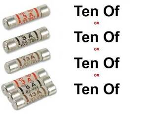 10 x Plug Top Fuses in either 3A, 5A, 13A or Mixed Amp pack