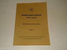 Betriebsanleitung Mercedes Benz W136 W 136 Typ 170 D 170D, Stand 03/1950
