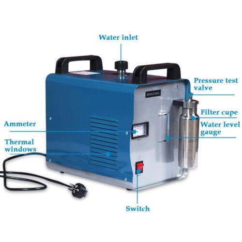 Oxy-Hydrogen Generator Acrylic Flame Polishing Machine Water Welder H160 75L CE