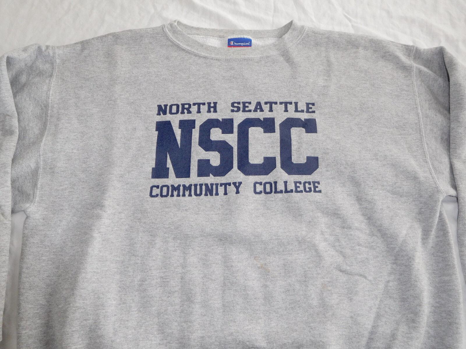 North Seattle Community College NSCC Sweatshirt Shirt L Large Champion