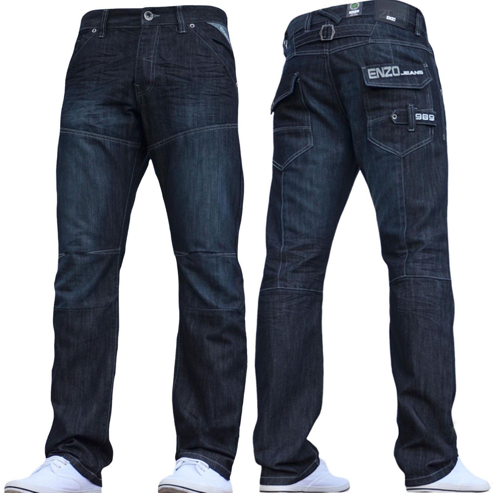 Übergrößen Herren Enzo Modische Jeans Toller Detail Style Ez 244 -  | Outlet Store Online