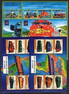 2x Guinea - Locomotives / Trains on stamps  MNH** C10
