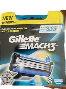 Gillette-MACH3-Men-039-s-Razor-Blades-8-Pack