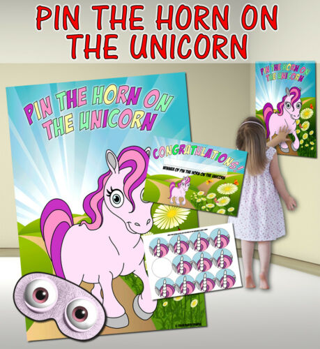 VARIOUS THEMES AVAILABLE INCLUDING PIN THE HORN ON THE UNICORN PIN THE..