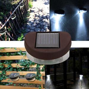 1x-2-LED-Solar-Fence-Light-Powerful-Outdoor-Garden-Yard-LED-Light-White-Light