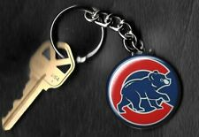 Chicago Cubs Keychain A Red C Bear