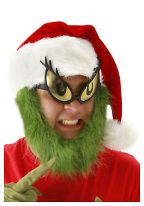 elope Grinch Beard Santa Hat