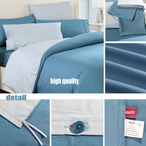 Premium High Quality 4pcs Solid Color King Size Bed Doona Quilt Covers Sets