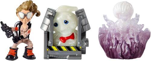 Mattel Ghostbusters Jillian et Gertrude Ghost Mini Figure 3PK Rowan au piège