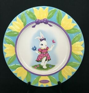 """Celebrations Christopher RADKO Easter Plate 12"""" Handcrafted Rare Hard to Find"""