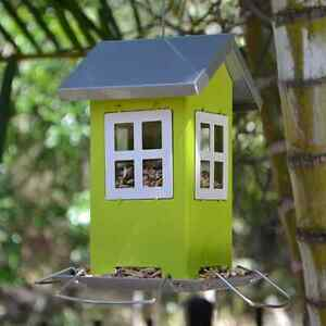 Hanging Green Classic Cottage Bird Feeder for wild garden birds of ...